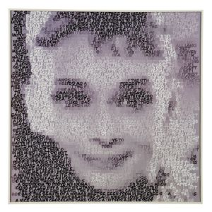 View Audrey Hepburn Black & White Framed Print (W)724mm x (H)724mm details