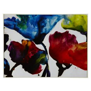 View Bright Watercolour Florals Multicolour Framed Print (W)824mm x (H)624mm details