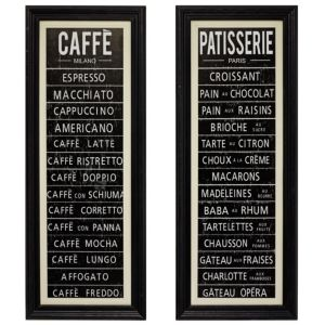 View Retro Café Black & White Wall Art (W)25.3cm x (H)65.4cm details