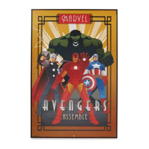 Image of Avengers Comics Multicolour Framed Art (W)625mm (H)930mm
