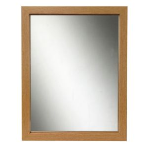 View Oak Effect Rectangular Framed Mirror (L)340mm (W) 340mm details