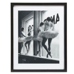 Ballerinas Black & White Framed Print (W)540mm (H)440mm