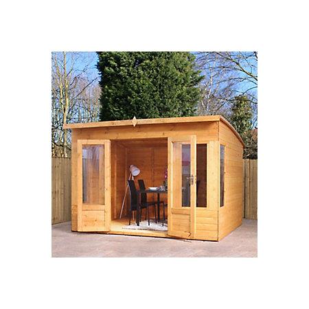 10x8 combi garden room shiplap timber summerhouse for Combi garden room