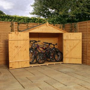 View 7X3 Shiplap+ Wooden Bike Store details