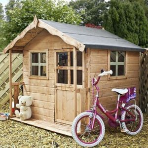 View Poppy 5X5 Wooden Playhouse with Base details