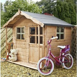View Poppy 5X5 Wooden Playhouse with Base with Assembly Service details
