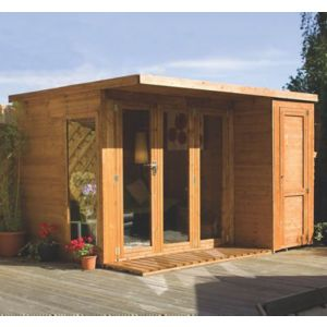 Image of 10x8 Combi Garden room Shiplap Summerhouse & store With assembly service