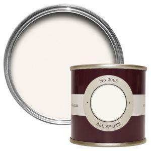Image of Farrow & Ball All White no.2005 Estate emulsion paint 0.1L Tester pot
