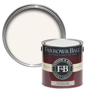 Image of Farrow & Ball All White no.2005 Matt Estate emulsion paint 2.5L
