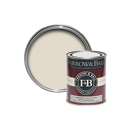 Farrow Ball Estate Eggshell Slipper Satin Silk Sheen Estate Eggshell Paint 750 Ml