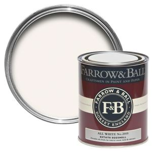 Image of Farrow & Ball All White no.2005 Estate Eggshell paint 750 ml