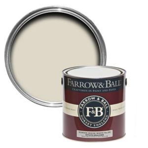 Image of Farrow & Ball Estate School house white No.291 Matt Emulsion paint 2.5L