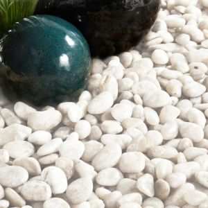 View Polished Chinese White Polished Pebbles 5 kg details