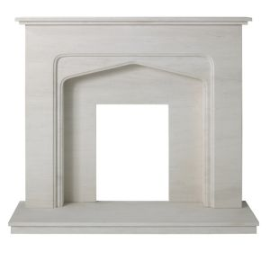 View Oslo Grey Limestone (H)1.135 (W)1.295m Surround Set details