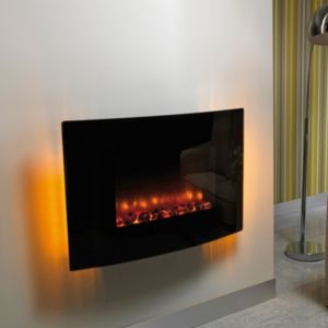 View Be Modern Scorpio Black LED Display Electric Wall Hung Fire details
