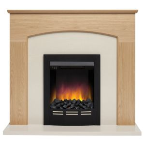 View Be Modern Glenmere Black LED Display Electric Fire Suite details