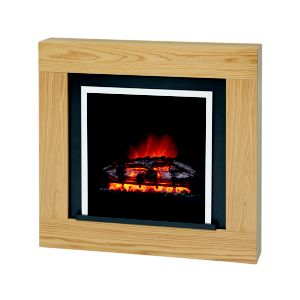View Bemodern Brandon Black Electric Fire Suite details