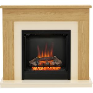 Image of Be Modern Blakemere Oak effect & Gloss effect LED Electric fire suite