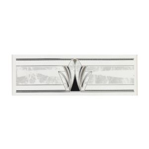 View Odeon White Ceramic Border Tile, (L)150mm (W)50mm details