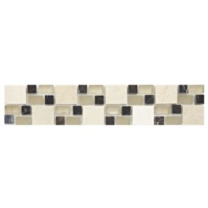 View Multi Square Earth Ceramic Border Tile, (L)333mm (W)66mm details