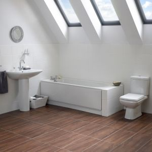 View Cooke & Lewis Seattle Bath, Toilet, Basin & Tap Pack details