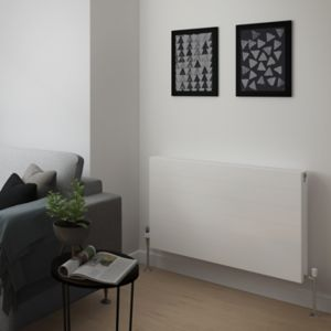 Image of Piatto Premium Type 22 double Panel radiator White (H)600mm (W)1000mm