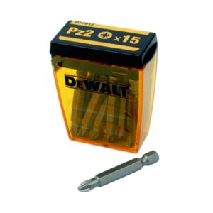 DeWalt PZ2 Screwdriver Bits 50mm  Pack of 15