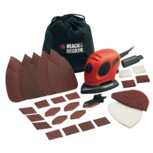 View Black & Decker 230V Corded 55W Detail Sander KA161BC-GB details