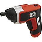 Black & Decker 3.6V Li-Ion Cordless Screwdriver with Charger, Storage Tine & Double Ended Screwdriver Bit KC460LN