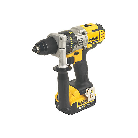 dewalt xr cordless 18v 4ah li ion combi drill 2 batteries dcd985m2 gb departments tradepoint. Black Bedroom Furniture Sets. Home Design Ideas
