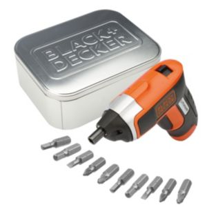 View Black & Decker 3.6V Li-Ion Cordless Screwdriver with 10 Screwdriver Bits KC460LNAT-GB details