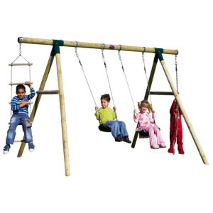 View Plum Gibbon Wooden Swing Set details
