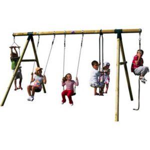 Image of Plum Orang-Utan Wooden Swing Set