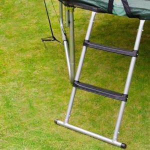 Image of Plum 3 Tread Steel Adjustable Trampoline Ladder 1.05M