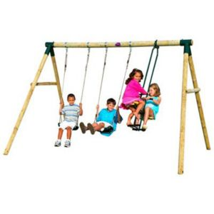 View Plum Colobus Wooden Swing Set details