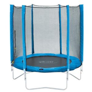 Image of Plum Blue 6 ft Trampoline & Enclosure