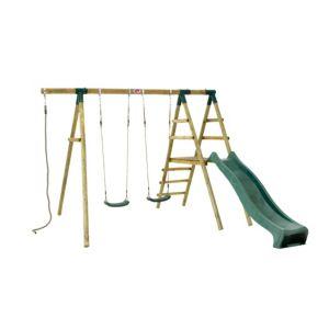 Image of Plum Giant Baboon Wooden Swing Set