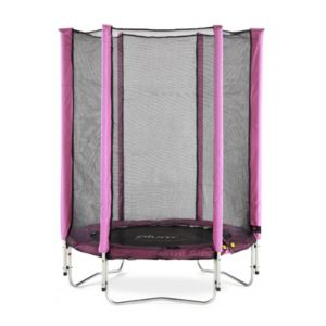 Plum Junior Pink 4.5 ft Trampoline & Enclosure