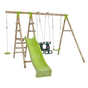 Plum Muriqui Wooden Swing Set