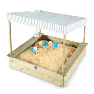Plum Palm Beach Wooden Sandpit with Canopy L120 x W120 x H101cm