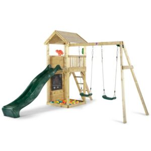 Plum Outdoor Wooden Lookout Tower with Swing Arm