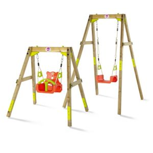 Plum Outdoor Wooden Growing Swing Set