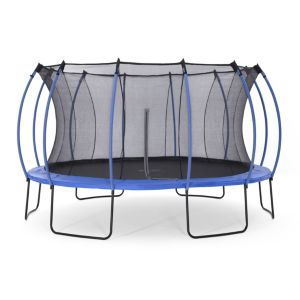 Image of Plum Colours Blue & lime 14ft Trampoline & enclosure