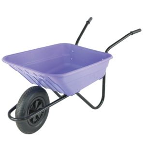 View Walsall Black & Lilac 90L Wheelbarrow details