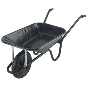 Image of Walsall Endurance Heavy Duty Black 85L Wheelbarrow