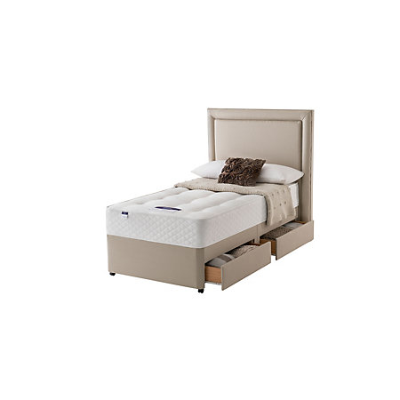 Silentnight Miracoil Mattress Single 2 Drawer Divan Bed Departments Diy At B Q