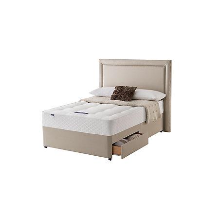 Silentnight miracoil mattress double 2 drawer divan bed for 2 drawer double divan bed