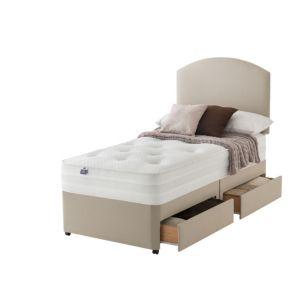 Image of Silentnight 1200 Pocket Luxury Single Divan 2-Drawer Bed Set