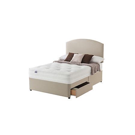 Silentnight 1200 pocket luxury double divan 2 drawer bed for 2 drawer double divan bed