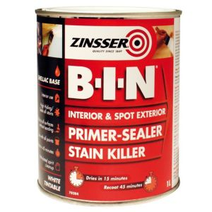 Image of Zinsser B-I-N White Matt Primer Sealer 1L